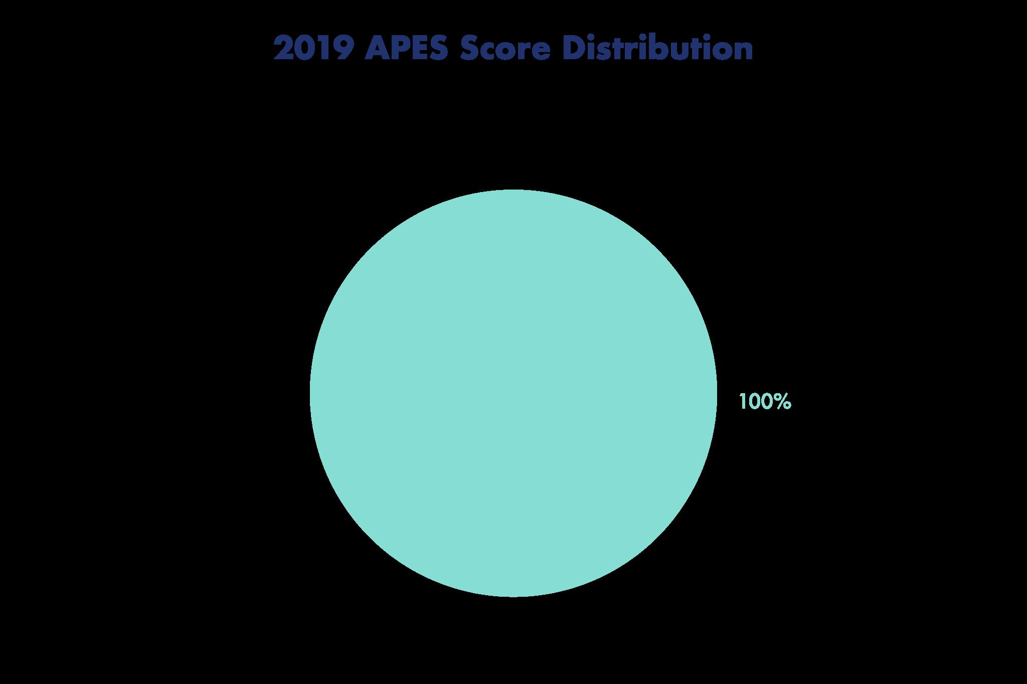 2019 APES Score Distribution